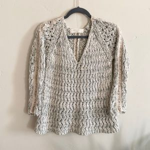 ZARA Knit Sweater with crochet accents